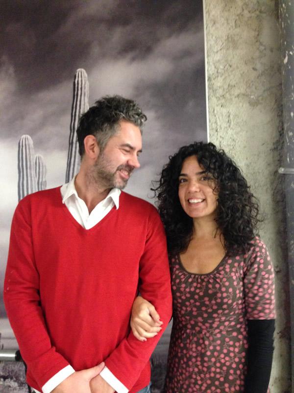 René con Ana Claudia, autora de la entrevista