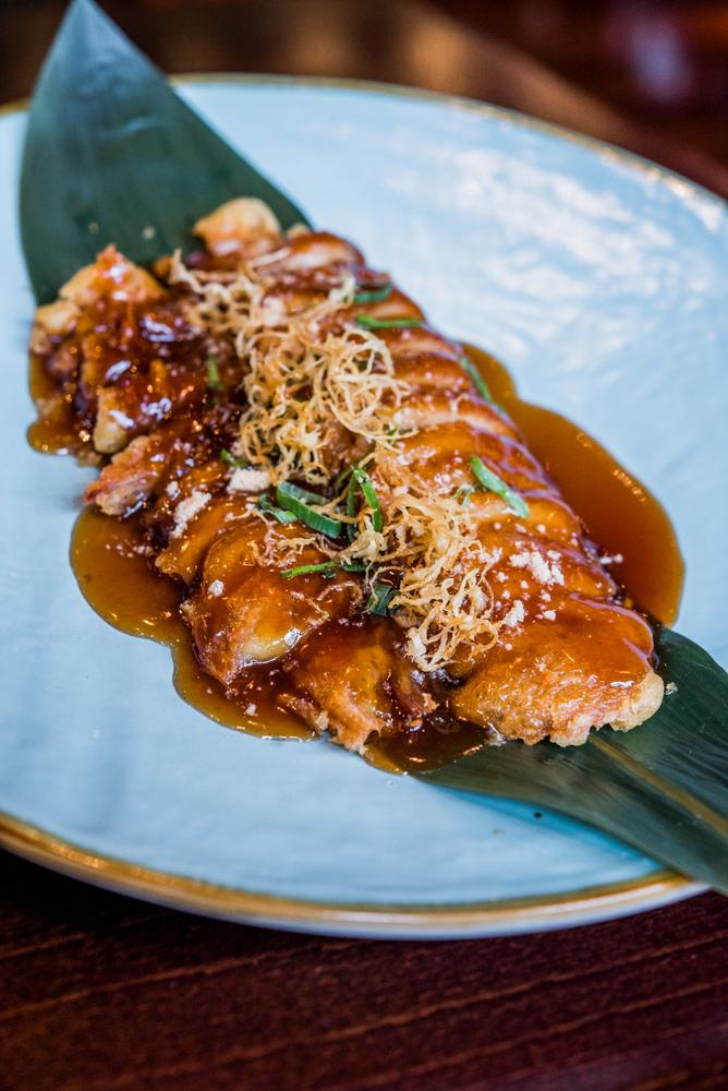 3-Pato Shanghai mama crujiente en salsa de almendras - Shanghay mama