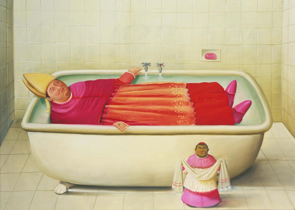 1-Fernando Botero_El baño del Vaticano, 2006_oleo sobre lienzo (1)